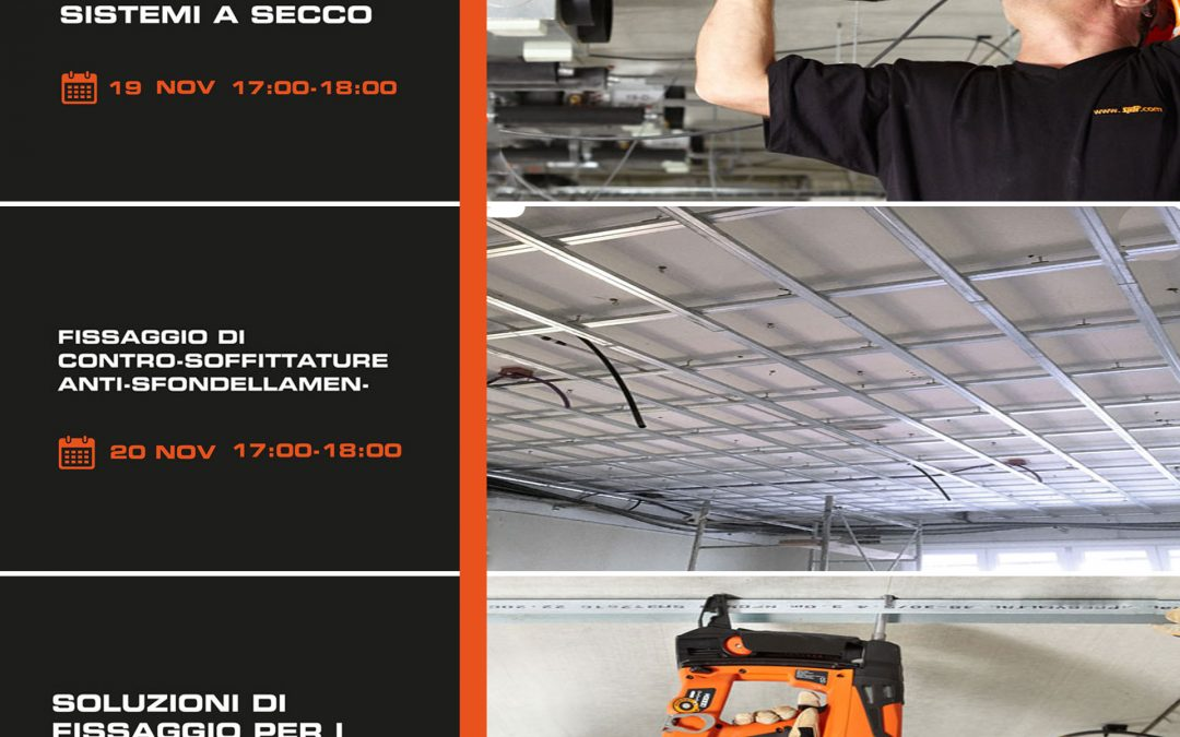 ITW Construction Products Italy: 3 webinar sui sistemi di fissaggio