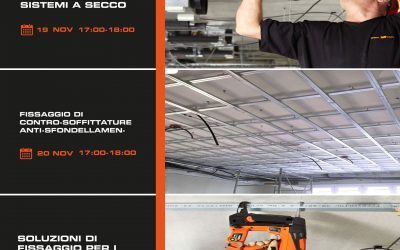 ITW Construction Products Italy: 3 webinar sui sistemi di fissaggio